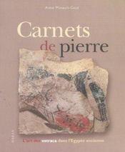 Carnets De Pierre. L'Art Des Ostraca Dans L'Egypte Ancienne - Intérieur - Format classique