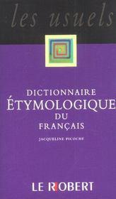 Dict etymologique poche usuels - Intérieur - Format classique