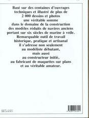 Encyclopedie navale des modeles reduits - guide du collectionneur et du modelist - 4ème de couverture - Format classique