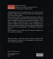 Paris murmures - 4ème de couverture - Format classique