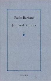 Journal a deux - Couverture - Format classique