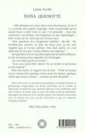 Dona Quichotte - 4ème de couverture - Format classique