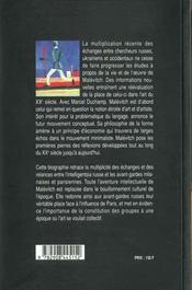 Kazimir Malevitch - 4ème de couverture - Format classique