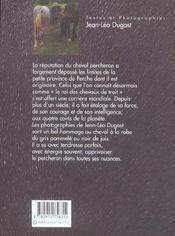 Le percheron - 4ème de couverture - Format classique