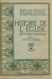 Histoire de l'eglise. tome 1: antiquite et moyen age debuts des temps modernes. - Couverture - Format classique