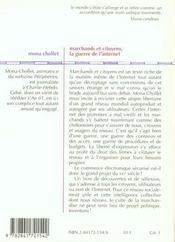 Marchands Et Citoyens ; La Guerre De L'Internet - 4ème de couverture - Format classique