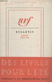 Bulletin Juillet- Aout 1960 N°151. - Couverture - Format classique