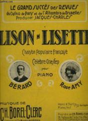 Lison Lisette - Marche One Step Pour Piano. - Couverture - Format classique