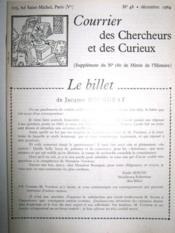 Courrier des Chercheurs et des Curieux. (Supplément du N° 180 de