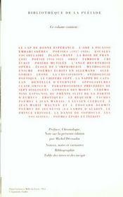 Oeuvres poétiques complètes - 4ème de couverture - Format classique