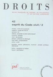 REVUE DROITS N.42 ; l'esprit du code civil t.2 - Intérieur - Format classique