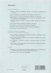 REVUE DROITS N.42 ; l'esprit du code civil t.2 - 4ème de couverture - Format classique