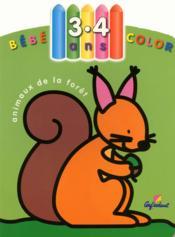 Bébé Color ; Animaux De La Forêt ; 3/4 Ans - Couverture - Format classique