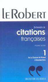 Citations Francaises Poche T1 - Couverture - Format classique