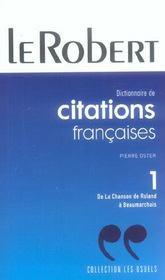 Citations Francaises Poche T1 - Intérieur - Format classique