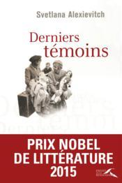 Derniers temoins - Couverture - Format classique