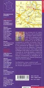 Villeneuve-les-avignon - 4ème de couverture - Format classique