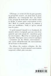 Petit manuel souverainiste a usage d'antidote contre les boniments europeens - 4ème de couverture - Format classique