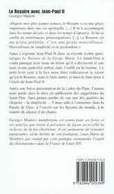 Rosaire Avec Jean-Paul Ii (Le) - 4ème de couverture - Format classique