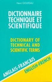 Dictionnaire technique et scientifique t.1 ; anglais-francais - Couverture - Format classique