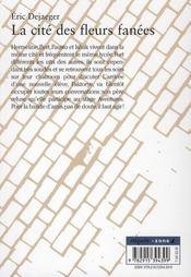 La cité des fleurs fanées - 4ème de couverture - Format classique