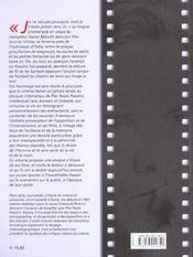Pier paolo pasolini - 4ème de couverture - Format classique