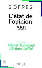 L'Etat De L'Opinion (1993) - Couverture - Format classique