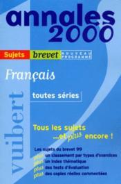 Francais Toutes Series Brevet Sujets Seuls - Couverture - Format classique