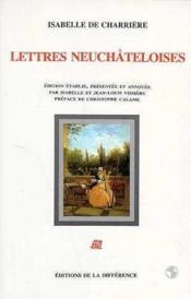 Lettres Neuchateloises - Couverture - Format classique