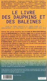Le Livre Des Dauphins Et Baleines - 4ème de couverture - Format classique