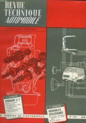 Revue Technique Automobile - N°242 - Couverture - Format classique