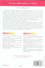 Theorie generale des circonstances aggravantes. volume 55 - 4ème de couverture - Format classique