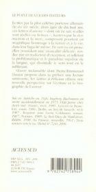 Lettres a felician - 4ème de couverture - Format classique