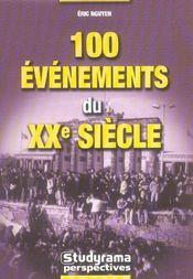 100 Evenements Du Xx Siecle - Intérieur - Format classique