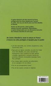 Guide des sites naturels de France - 4ème de couverture - Format classique