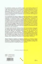 Aspects Linguistiques De La Traduction - 4ème de couverture - Format classique