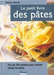 Le petit livre des pâtes - Intérieur - Format classique