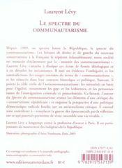 Spectre Du Communautarisme (Le) - 4ème de couverture - Format classique