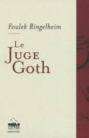 Le Juge Goth - Couverture - Format classique
