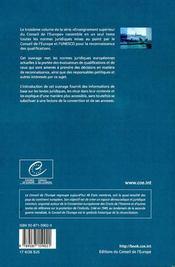 Normes pour la reconnaissance : la convention de reconnaissance de lis - 4ème de couverture - Format classique
