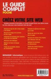 Créez votre site web - 4ème de couverture - Format classique