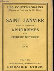 Saint Janvier Suivi De Quelques Aphorismes - Couverture - Format classique