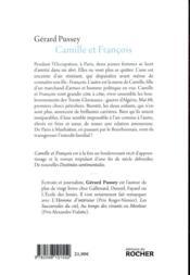 Camille et François - 4ème de couverture - Format classique