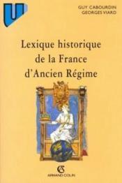 Lexique Historique De La France D'Ancien Regime - Couverture - Format classique