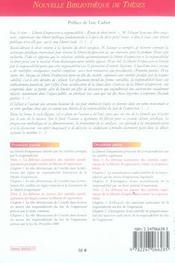 Liberte d'expression et responsabilite. etude de droit prive. volume 56 - 4ème de couverture - Format classique