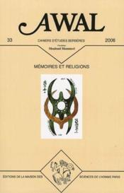 Revue Awal N.33 ; Revue Awal T.33 ; Mémoires Et Religions - Couverture - Format classique
