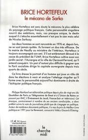 Brice Hortefeux le mécano de Sarko - 4ème de couverture - Format classique
