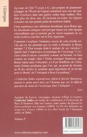73 Av J.-C. : Spartacus - 4ème de couverture - Format classique