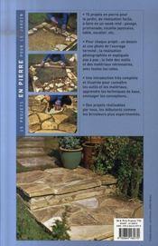 15 projets en pierre pour le jardin - 4ème de couverture - Format classique
