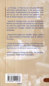 Raclettes et fromages - 4ème de couverture - Format classique